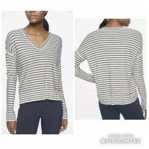 Athleta V-Neck Silk Blend Sweater S